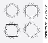 hand drawn vector square frames ... | Shutterstock .eps vector #549449359