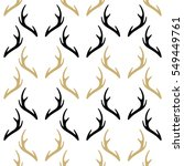 seamless pattern with deer horns | Shutterstock .eps vector #549449761