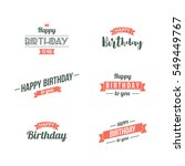 happy birthday typographic set. ...   Shutterstock .eps vector #549449767