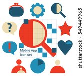 mobile application icons set...