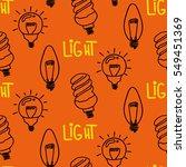lamp light bulb hand drawn... | Shutterstock .eps vector #549451369