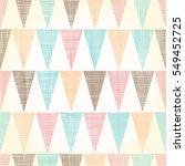 vector vintage bunting flags... | Shutterstock .eps vector #549452725