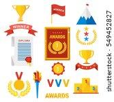 set of gold award winner. prize ... | Shutterstock .eps vector #549452827