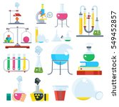 big set of laboratory equipment.... | Shutterstock .eps vector #549452857
