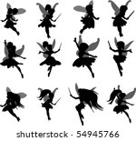 little fairies set | Shutterstock .eps vector #54945766