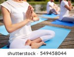fitness  sport  yoga and... | Shutterstock . vector #549458044