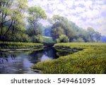 oil painting landscape  ... | Shutterstock . vector #549461095
