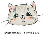 Stock vector cute cat sketch vector illustration 549461179