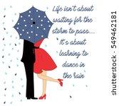 lovers under umbrella with text ... | Shutterstock .eps vector #549462181