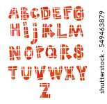drawn letters in the form of a... | Shutterstock .eps vector #549463879