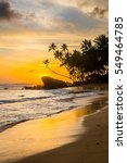 Idyllic Tropical Beach With...