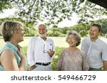 group of senior retirement... | Shutterstock . vector #549466729