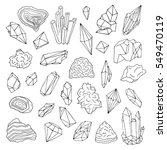 minerals  crystals  gems... | Shutterstock .eps vector #549470119