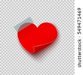 paper sticker in heart shape on ... | Shutterstock .eps vector #549471469