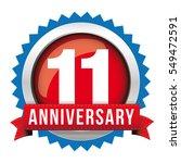 eleven years anniversary badge... | Shutterstock .eps vector #549472591