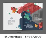 cover design annual report... | Shutterstock .eps vector #549472909