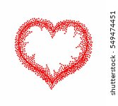 valentines composition of the...   Shutterstock .eps vector #549474451