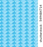 blue waves seamless pattern.... | Shutterstock .eps vector #549484714