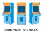 arcade game machine on white... | Shutterstock .eps vector #549486127