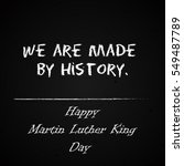 happy martin luther king day... | Shutterstock .eps vector #549487789