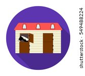 Horse Stable Icon In Flat Styl...