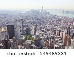 aerial view on the center of... | Shutterstock . vector #549489331