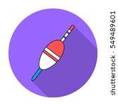 fishing float icon in flat...   Shutterstock .eps vector #549489601