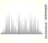 dotted equaliser  equalizer  eq ... | Shutterstock .eps vector #549490609