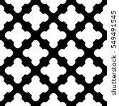 vector monochrome seamless... | Shutterstock .eps vector #549491545