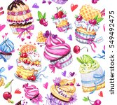 watercolor seamless pattern... | Shutterstock . vector #549492475