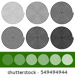 logarithmic spirals with... | Shutterstock .eps vector #549494944