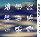 set of handwritten lettering... | Shutterstock .eps vector #549498739