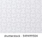 white jigsaw puzzle | Shutterstock . vector #549499504