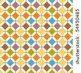 A Multicolored Retro Floor Til...