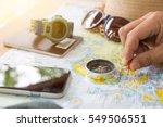 travel concept background... | Shutterstock . vector #549506551