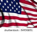 usa flag render | Shutterstock . vector #54950851