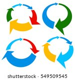 set of 4 version circular arrow ... | Shutterstock .eps vector #549509545