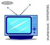 tv icon   vector | Shutterstock .eps vector #549509581