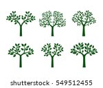 collection of green trees.... | Shutterstock .eps vector #549512455