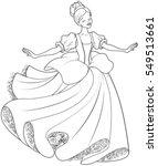 the royal ball dance of... | Shutterstock .eps vector #549513661