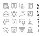 office and business icons... | Shutterstock .eps vector #549517249