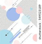 geometric pattern illustration... | Shutterstock .eps vector #549523189