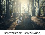 portrait of hipster couple... | Shutterstock . vector #549536065