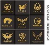 eagle logo set  phoenix  bird... | Shutterstock .eps vector #549539701