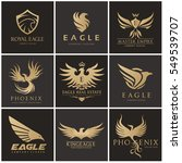 eagle logo set  brand identity... | Shutterstock .eps vector #549539707