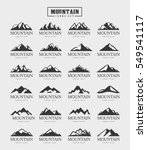 mountain logo set | Shutterstock .eps vector #549541117