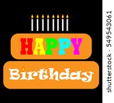 happy birthday card | Shutterstock .eps vector #549543061