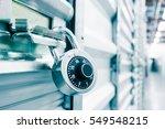 combination lock on a self... | Shutterstock . vector #549548215