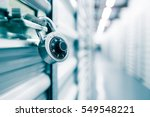 combination lock on a self... | Shutterstock . vector #549548221