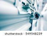 combination lock on a self...   Shutterstock . vector #549548239